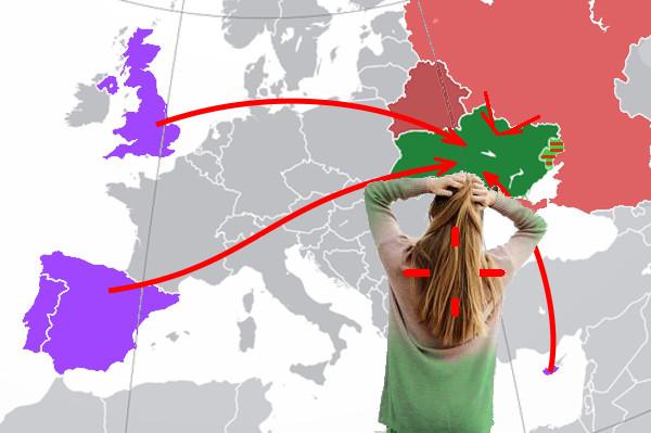 Ковидоопасные (сейчас) направления Украины.