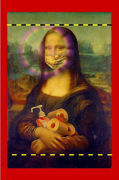 Шарж на карикатуру на картине Леонардо Да Винчи.